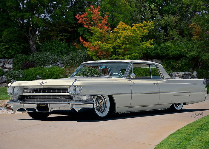 1963 Cadillac Coupe Deville Greeting Card for Sale by Dave Koontz