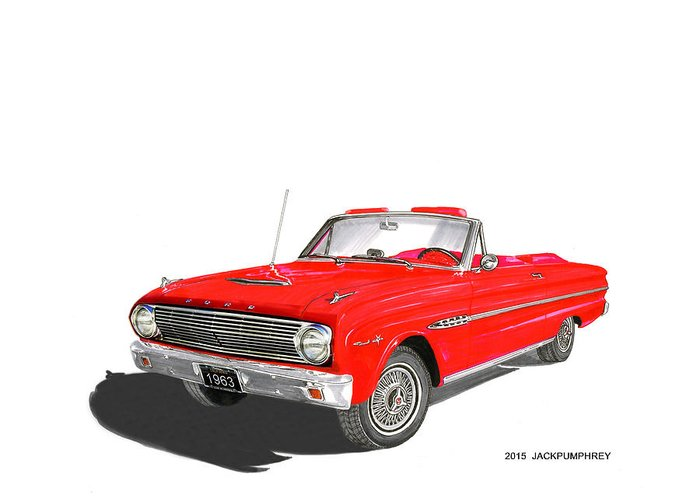 1963 Ford Paintings Greeting Cards