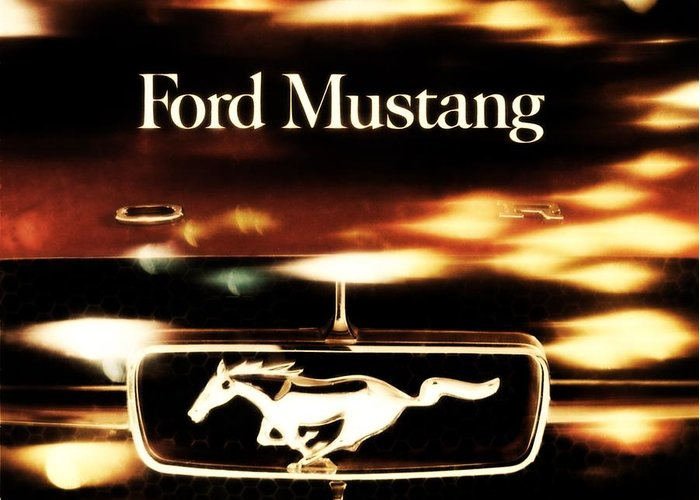 1964 Greeting Card featuring the photograph 1964 Ford Mustang by R Muirhead Art