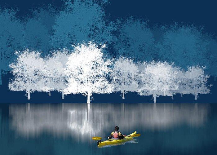 Kayak Greeting Cards