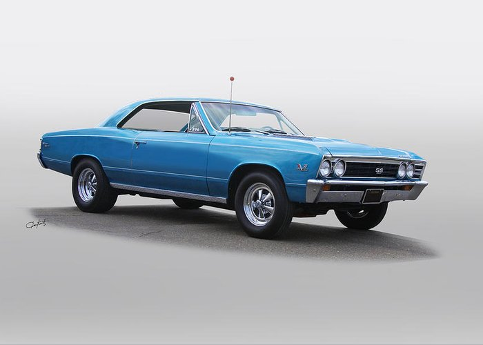 Automobile Greeting Card featuring the photograph 1967 Chevelle Super Sport Ss396 by Dave Koontz