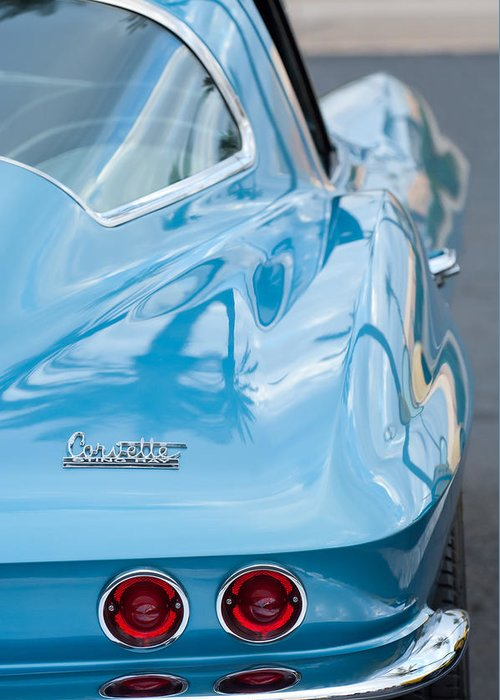 1967 Chevrolet Corvette Greeting Card featuring the photograph 1967 Chevrolet Corvette 11 by Jill Reger