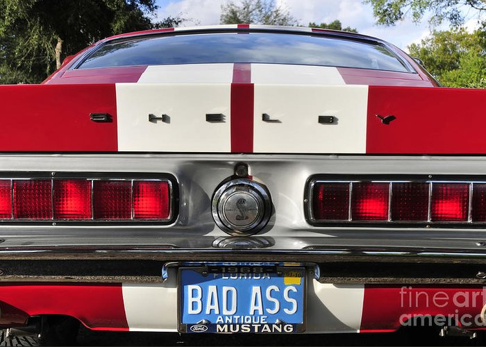 Shelby Mustang Greeting Card featuring the photograph 1968 Bad Ass Shelby Mustang by David Lee Thompson