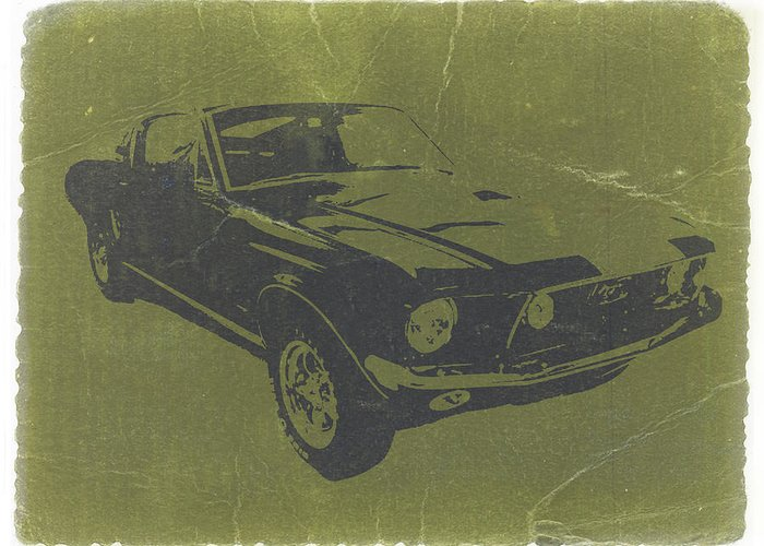 1968 Ford Mustang Greeting Card featuring the photograph 1968 Ford Mustang by Naxart Studio
