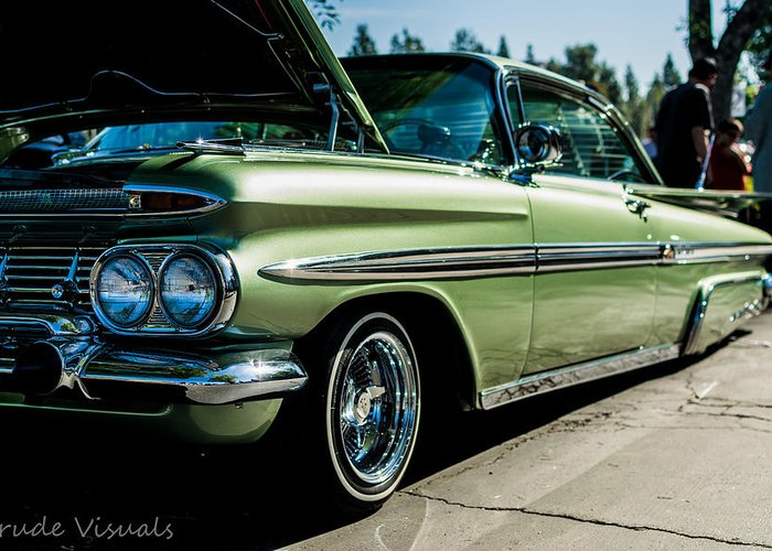 1969 Chevy Impala Lowrider Greeting Card For Sale By Yasthin Torres