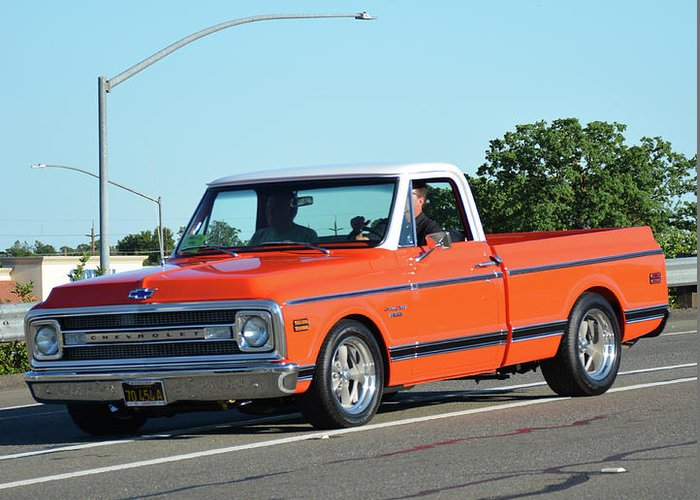1970 Chevy Pickup >> 1970 Chevy C10 Kneeland Greeting Card