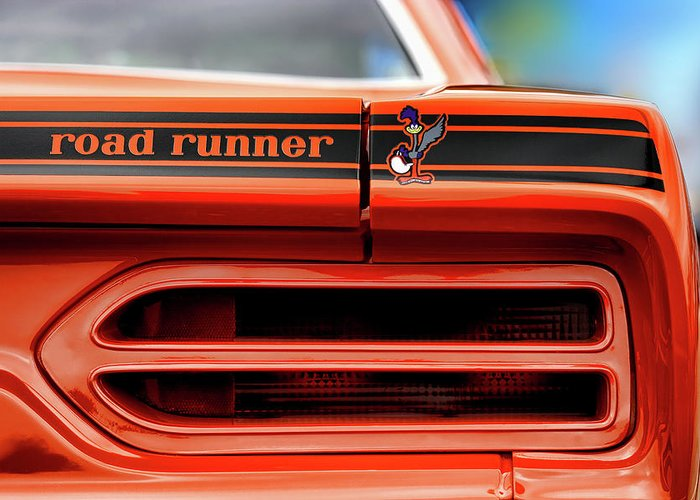 1970 Greeting Card featuring the photograph 1970 Plymouth Road Runner - Vitamin C Orange by Gordon Dean II