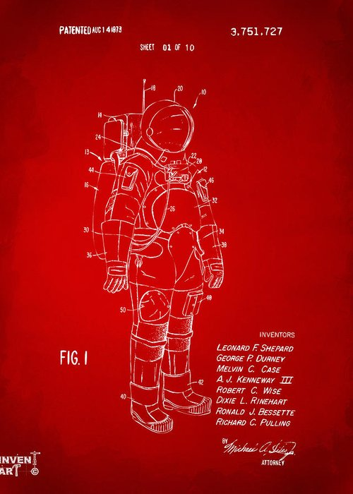 Space Suit Greeting Cards