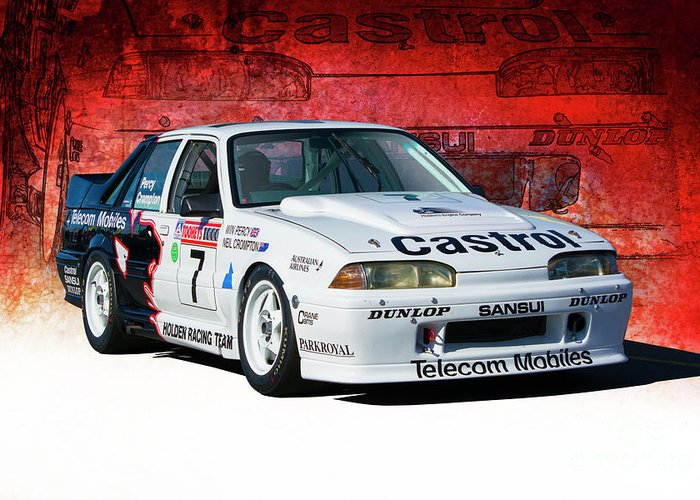 Group A Greeting Card featuring the photograph 1989 Vl Commodore Walkinshaw by Stuart Row