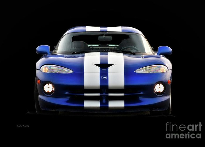 Auto Greeting Card featuring the photograph 1995 Dodge Viper Coupe II by Dave Koontz