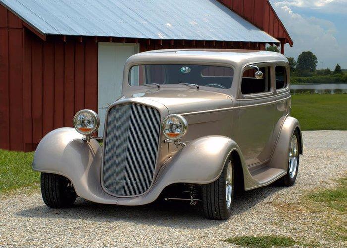 1934 Chevrolet Sedan Hot Rod Greeting Card