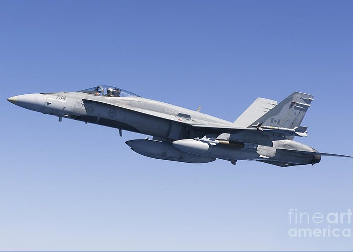 Libya Greeting Card featuring the photograph A Cf-188a Hornet Of The Royal Canadian by Gert Kromhout