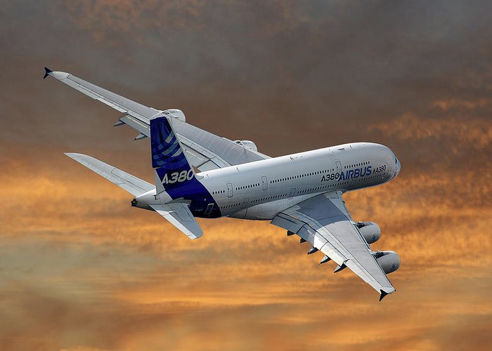 A380 Greeting Cards