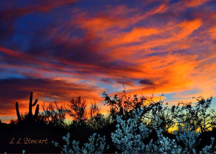Arizona Greeting Card featuring the photograph Arizona Sky by L L Stewart