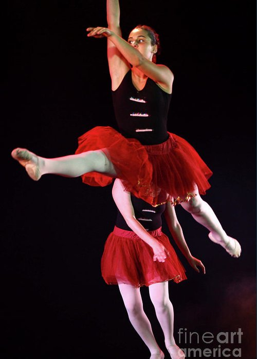 Ballet Greeting Card featuring the photograph Ballet Performance by Chen Leopold