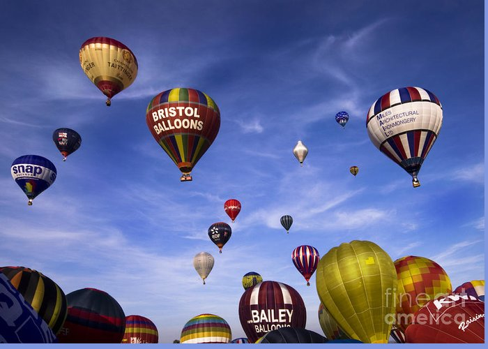 Balloon Fiesta Greeting Card featuring the photograph Balloon Fiesta by Angel Ciesniarska
