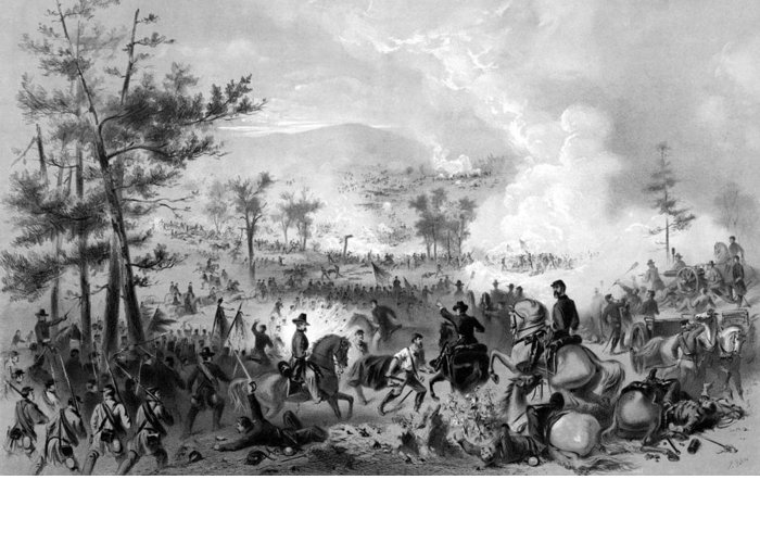 Gettysburg Greeting Card featuring the drawing Battle Of Gettysburg by War Is Hell Store