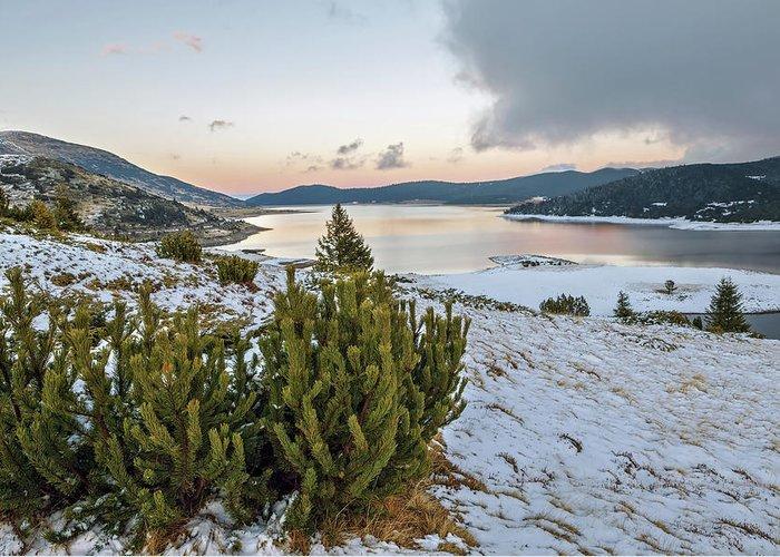 Landscape Greeting Card featuring the photograph Belmeken Dam by Tihomir Dimitrov