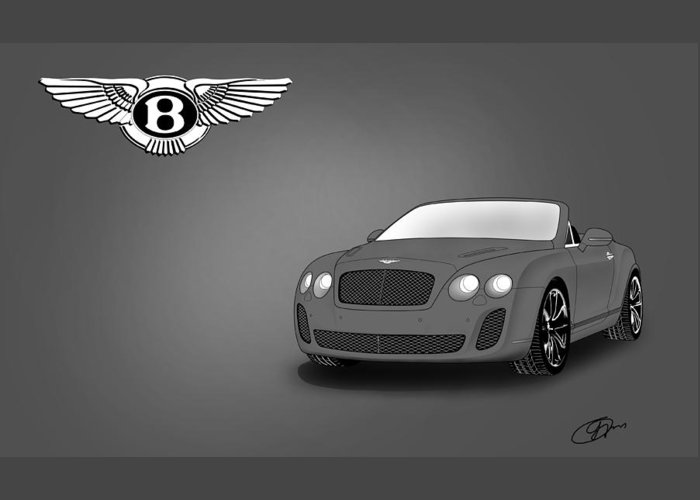 Bentley Greeting Card featuring the digital art Bentley by Khajohnpan Sauychalad