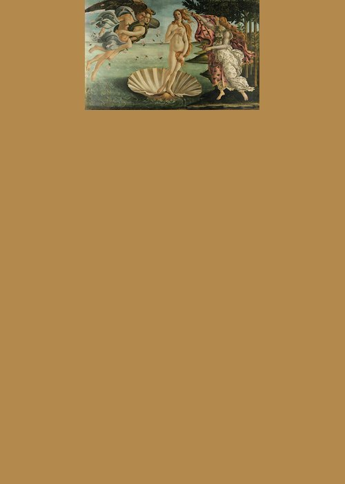 Birth Of Venus Greeting Card featuring the painting The Birth Of Venus, Detail by Sandro Botticelli