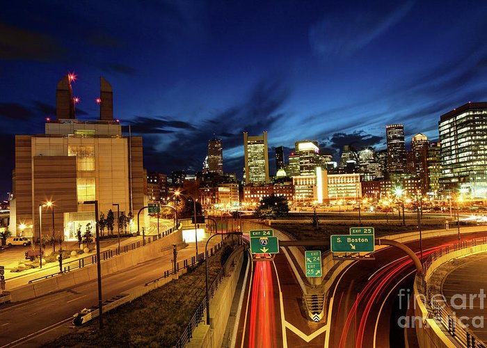 Boston Greeting Card featuring the photograph Boston Massachusetts by Denis Tangney Jr