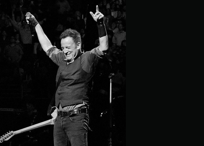 Bruce Springsteen Photographs Greeting Cards