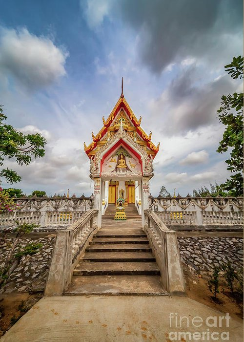 Temple Greeting Card featuring the photograph Buddhist Temple by Adrian Evans