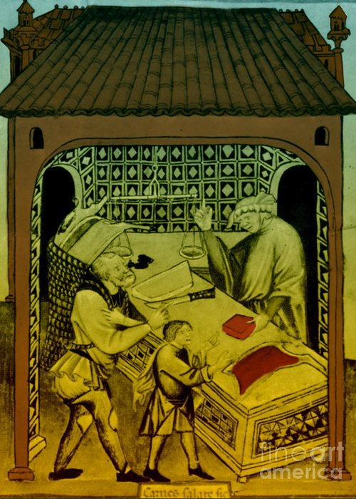 Butcher Greeting Card featuring the photograph Butcher, Medieval Tradesman by Science Source