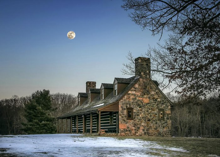 Cabin Greeting Card featuring the photograph Cabin In The Woods by Sharon Horn