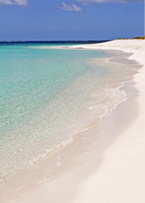 Beach Greeting Card featuring the photograph Caribbean Beach. by Fernando Barozza