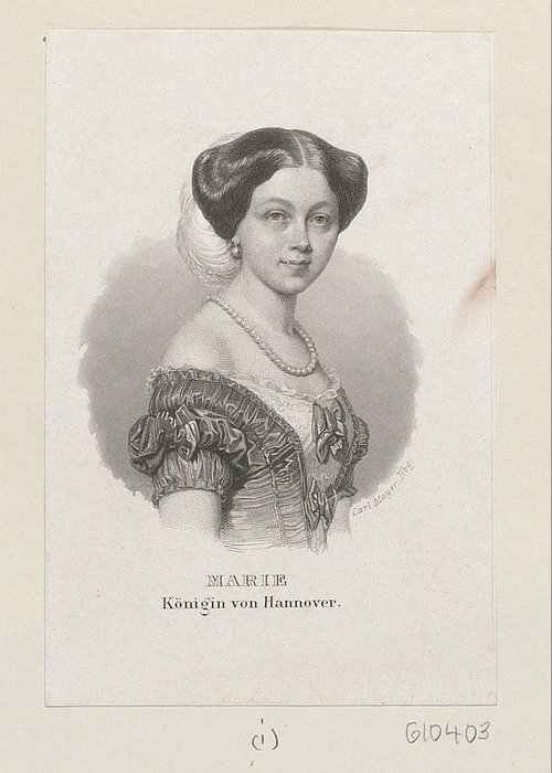 Carl Mayer (1798-1868) Marie Konigin Von Hannover C.1851-68 Greeting Card featuring the digital art Carl Mayer by Mark Carlson