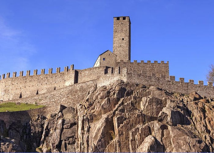 Castelgrande Greeting Card featuring the photograph Castelgrande - Bellinzona by Joana Kruse