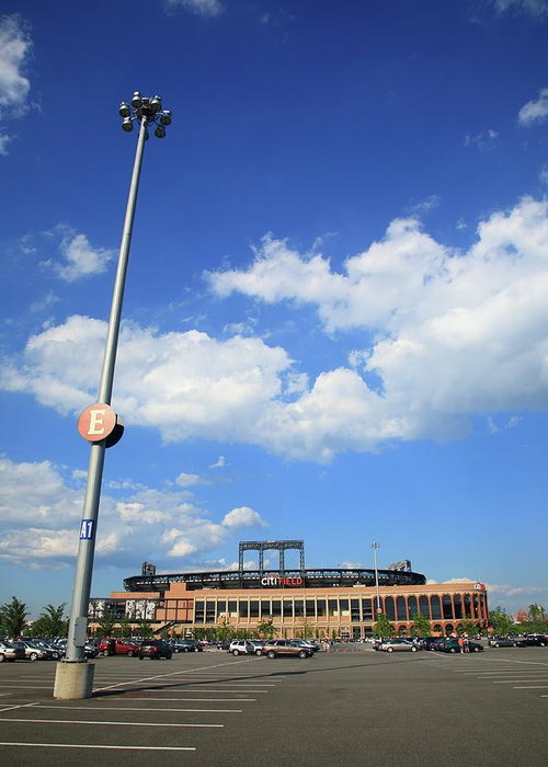 America Greeting Card featuring the photograph Citi Field - New York Mets by Frank Romeo