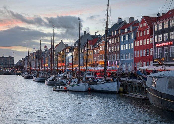Nyhavn Greeting Card featuring the photograph Copenhagen - Denmark by Joana Kruse