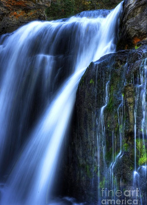 Places Greeting Card featuring the photograph Crayfish Falls by Dennis Hammer