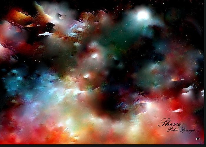 Universe Greeting Card featuring the painting Crystal Universe by Sherri's - Of Palm Springs