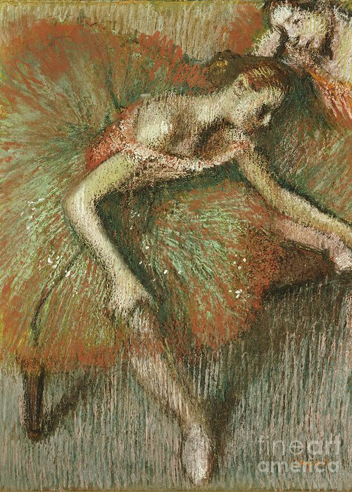 Dancers Greeting Card featuring the painting Dancers by Edgar Degas