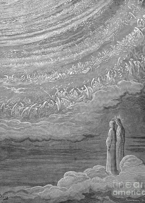 14th Century Greeting Card featuring the photograph Dante: Paradise by Granger