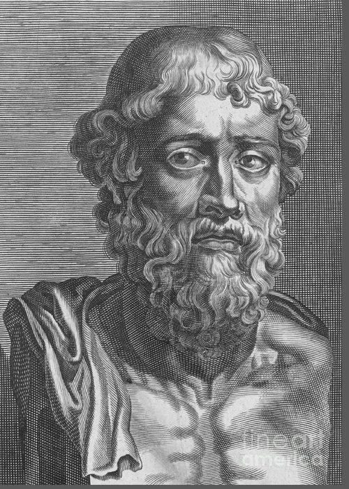 History Greeting Card featuring the photograph Demosthenes, Ancient Greek Orator by Photo Researchers