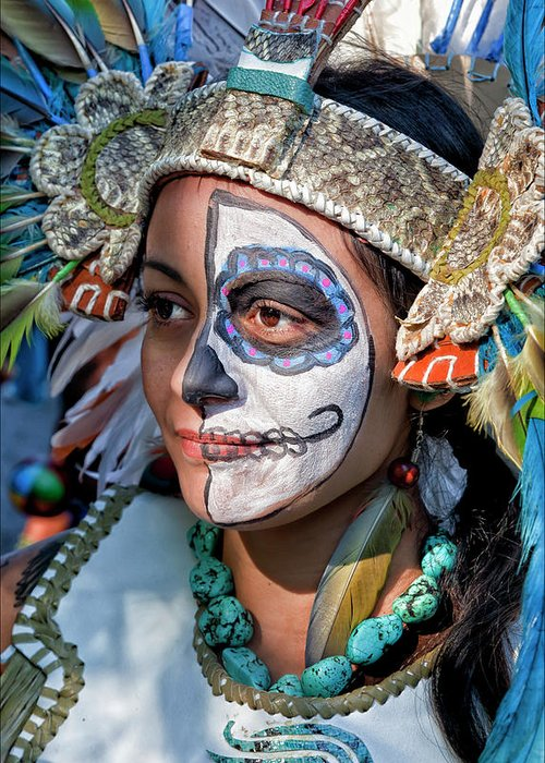 Day Of The Dead Greeting Card featuring the photograph Dia De Los Muertos - Day Of The Dead 10 15 11 Procession by Robert Ullmann