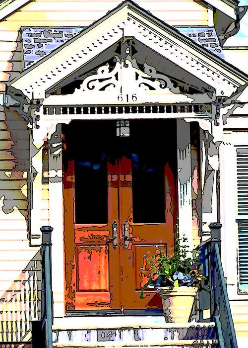 Architecture Greeting Card featuring the photograph Door Series by Ginger Geftakys