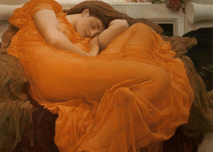 Flaming June Greeting Card For Sale By Frederic Leighton