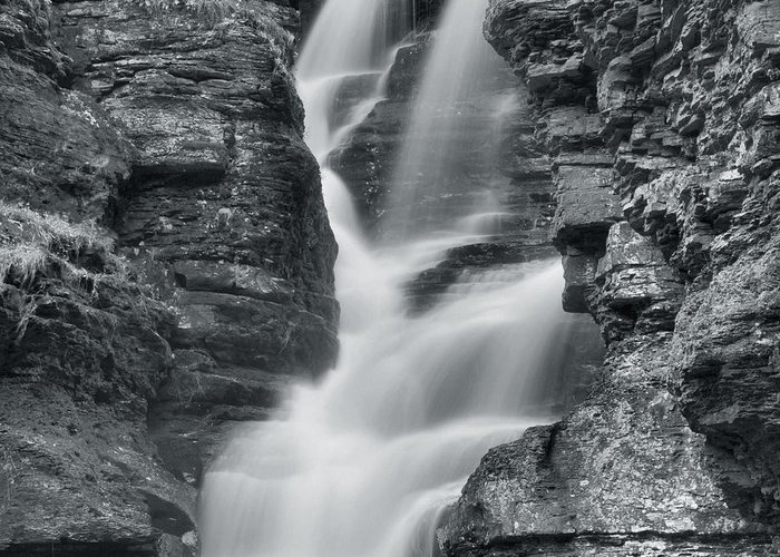 Waterfall Greeting Card featuring the photograph Fulmer Falls 2 by Stephen Vecchiotti