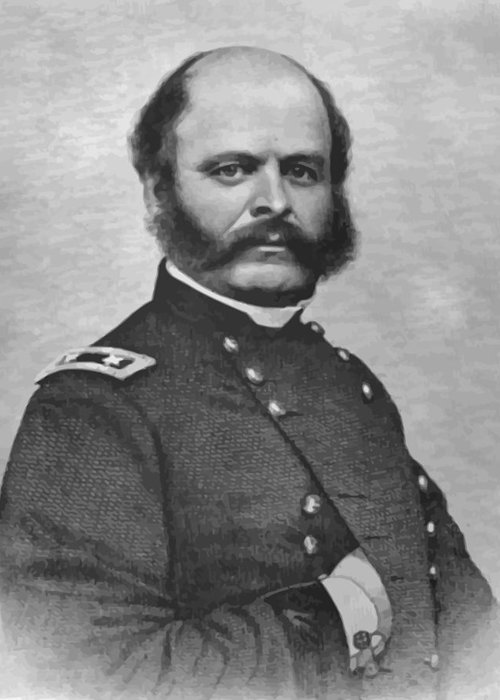 Ambrose Burnside Greeting Card featuring the painting General Burnside by War Is Hell Store