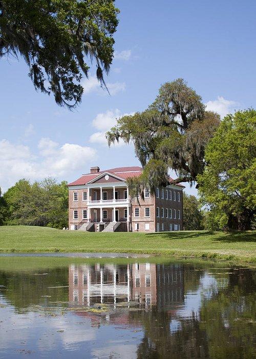 Historic Greeting Card featuring the photograph Historic Drayton Hall In Charleston South Carolina by Dustin K Ryan