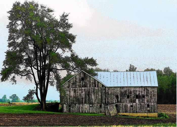 Barn Greeting Card featuring the photograph Indiana Barn by Joyce Kimble Smith