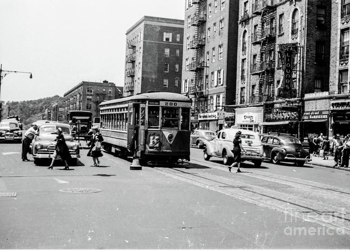 Trolley Greeting Card featuring the photograph Inwood Trolley by Cole Thompson