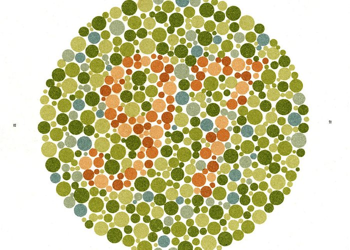 Designs Similar to Ishihara Color Blindness Test