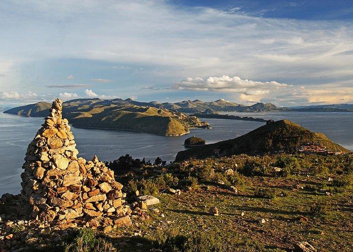 Isla De Sol Greeting Card featuring the photograph Isla De Sol Bolivia by Kurt Williams
