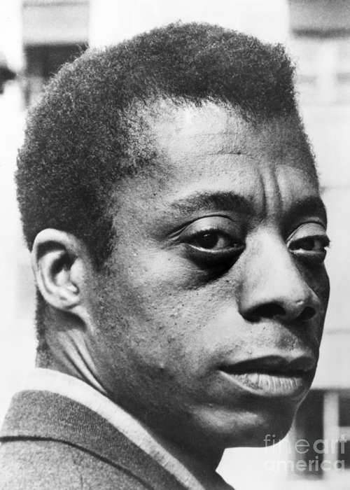 20th Century Greeting Card featuring the photograph James Baldwin by Granger